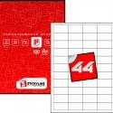 Этикетки на листах А4, Зеленый, (48.5 х 25.4 мм.), 100 листов