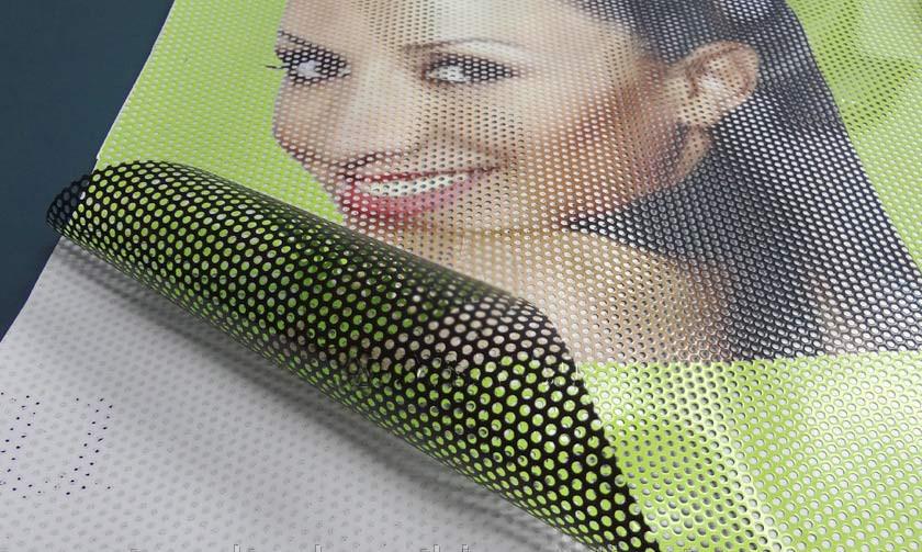 Цифровая печать на перфорированной пленке