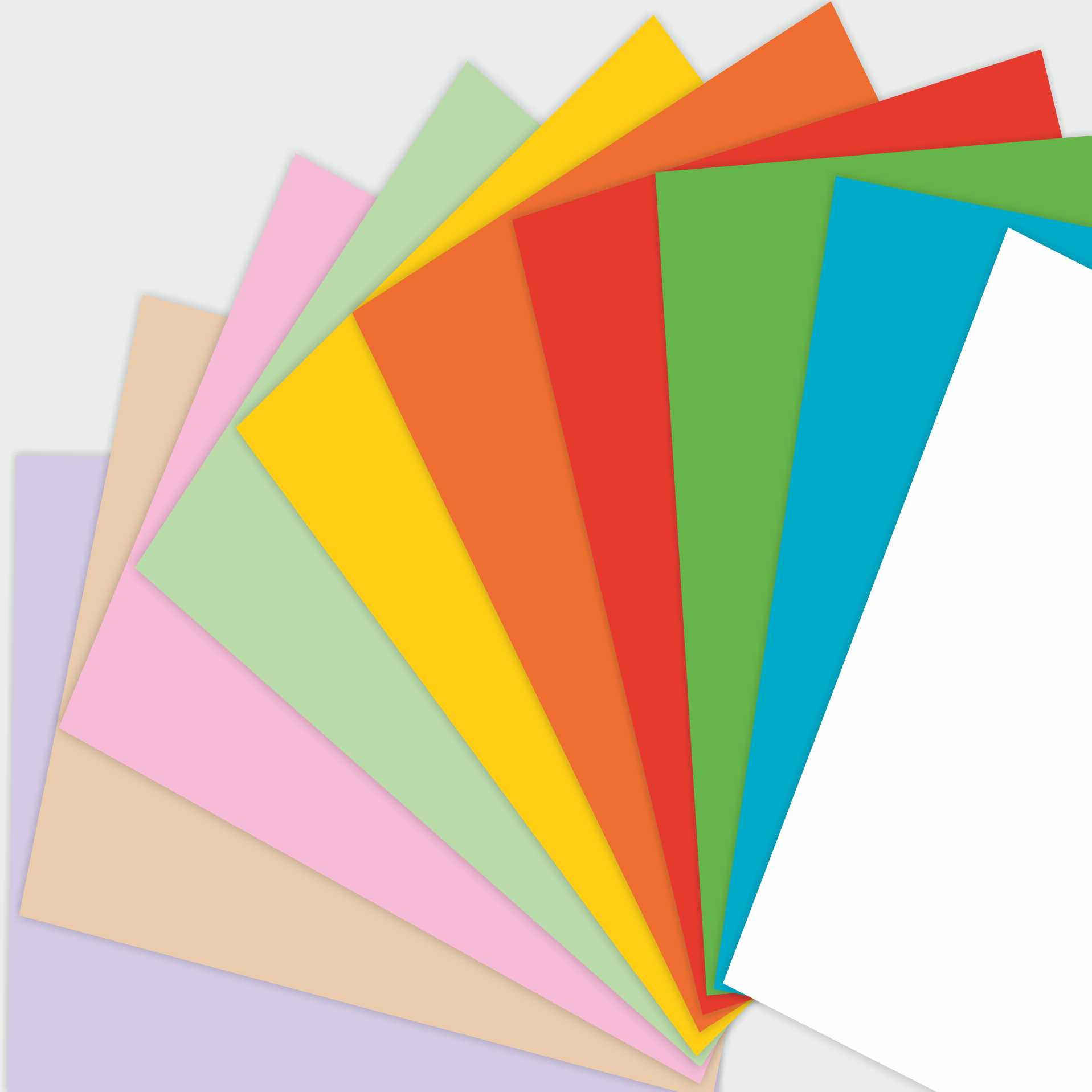 Этикетки на цветной бумаге