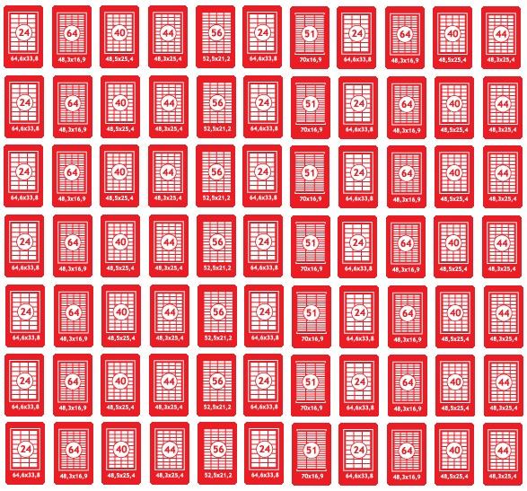 Прямоугольные наклейки на листах А4