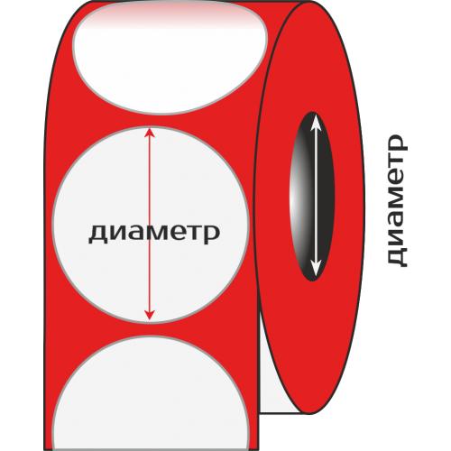 Полуглянец, диаметр 120 мм., 1000 этикеток в рулоне