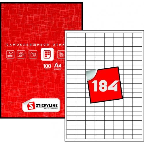 Этикетки на листах А4, Зеленый, (25 х 12 мм.), 100 листов