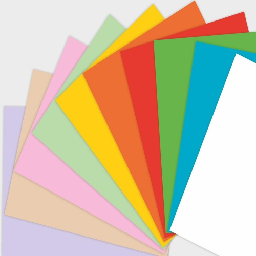 Этикетки на листах А4, Синий, (20 х 80 мм.), 100 листов