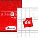 Этикетки на листах А4, Красный, (38.1 х 21.2 мм.), 500 листов