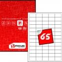 Этикетки на листах А4, Красный, (38.1 х 21.2 мм.), 50 листов