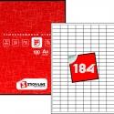 Этикетки на листах А4, Красный, (25 х 12 мм.), 50 листов