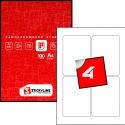 Этикетки на листах А4, Красный, (85 х 122 мм.), 100 листов