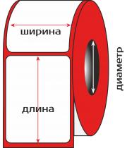 Термоэтикетка ЭКО, 58 х 40 мм., 600 этикеток в рулоне