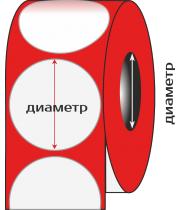 Полуглянец, диаметр 70 мм., 100 этикеток в рулоне