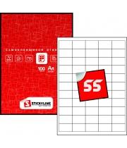 Прямоугольные этикетки на листах А4 (белая бумага), 40 х 25 мм — артикул: 18
